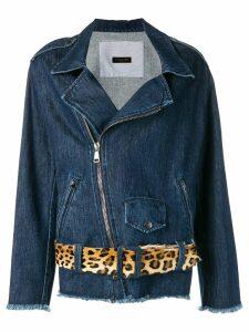 Simonetta Ravizza denim biker jacket - Blue