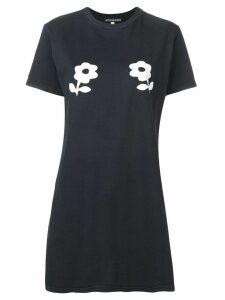 Alexa Chung printed flower long T-shirt - Black