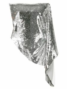 Paula Knorr sequinned bandeau top - Silver