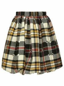 Miu Miu Embellished wool skirt - NEUTRALS