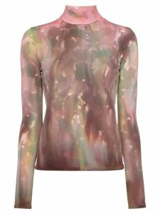 AMBUSH tie-dye roll neck top - PINK