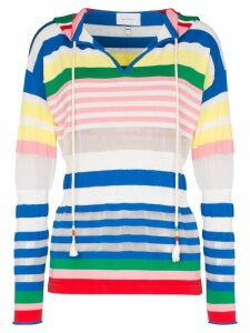 Mira Mikati stripe cotton blend hoodie - Pink