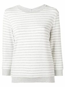 Majestic Filatures striped fitted sweater - Grey