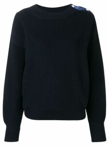 Moncler navy knit sweater - Blue