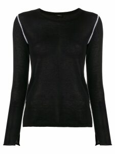 Joseph contrast stitch jumper - Black