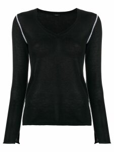 Joseph knitted v-neck jumper - Black