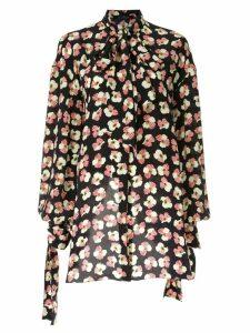 Rokh floral asymmetric top - Black