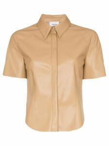 Nanushka Clare vegan leather shirt - Neutrals