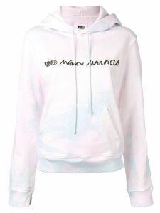 Mm6 Maison Margiela logo tie-dye hoodie - PINK