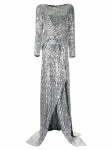 Roland Mouret long-sleeve flared dress - Silver