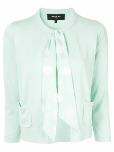 Paule Ka ribbon-embellished cardigan - Green