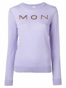 Moncler 'Mon' cashmere jumper - PURPLE