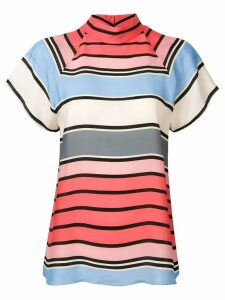 Emporio Armani striped short sleeve blouse - Pink
