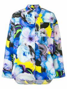 MSGM floral pattern shirt - Blue