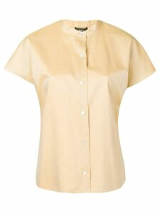 Theory short-sleeve fitted shirt - NEUTRALS
