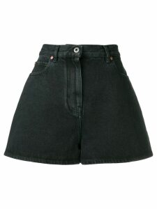 Valentino printed logo denim shorts - Black