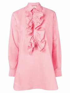 Plan C ruffle-trimmed blouse - Pink