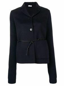 Jil Sander belted knitted sleeve blazer - Blue