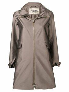 Herno hooded midi coat - Brown