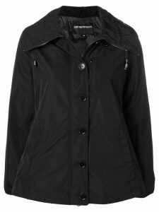 Emporio Armani hooded zip-up jacket - Black