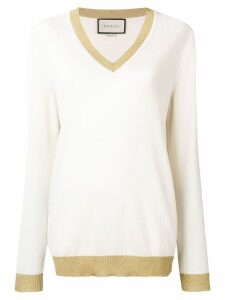 Gucci glittery trim jumper - Neutrals