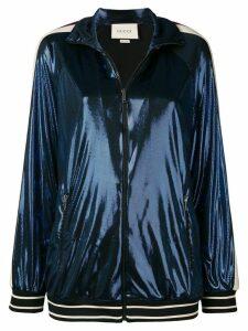 Gucci logo stripe track jacket - Blue