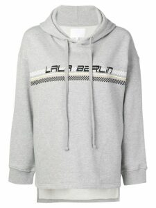 Lala Berlin logo embroidered hooded sweatshirt - Grey