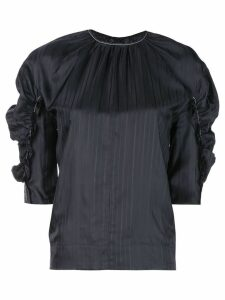 Victoria Victoria Beckham gathered sleeve blouse - Black