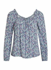 Womens Vila Multi Colour Printed Longsleeve Top, Multi Colour
