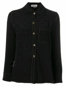 Salvatore Ferragamo Pre-Owned 1970's jacquard detail shirt - Black