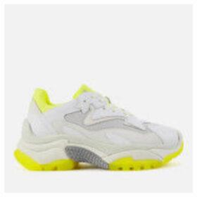 Ash Women's Addict Chunky Runner Style Trainers - White/Fluo Yellow - UK 7