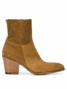 Rocco P. zipped ankle boots - Brown