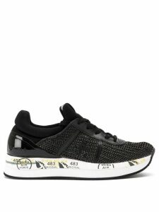 Premiata printed sole sneakers - Black
