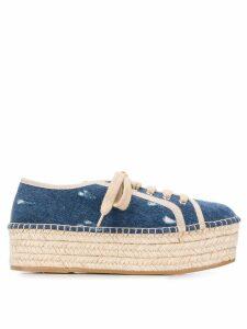 Miu Miu espadrille platform sneakers - Blue