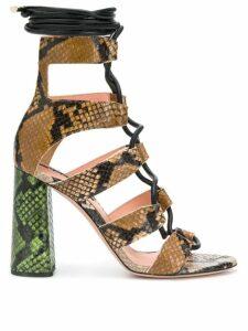 Rochas snakeskin-effect sandals - Brown