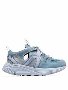 GANNI blue Brooklyn 45 suede and mesh sneakers