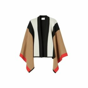 Burberry Striped Wool Cashmere Cape