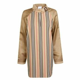 Burberry Icon Stripe Logo Silk Shirt