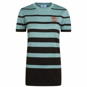 Prada Glittered Striped T Shirt
