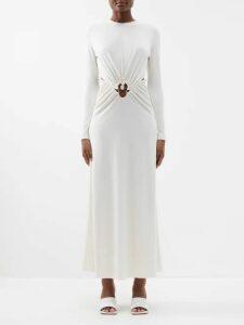 Le Sirenuse, Positano - Vanessa Embroidered Cotton Maxi Dress - Womens - Blue Multi