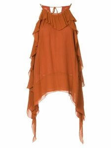 Manning Cartell draped sides blouse - Brown