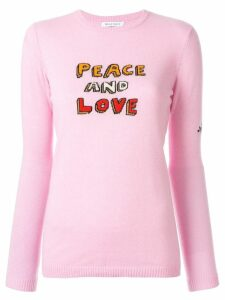Bella Freud Peace and Love sweater - Pink