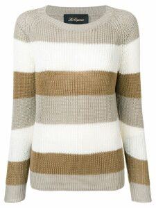 Les Copains striped knitted sweater - NEUTRALS