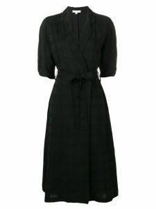 Equipment wrap midi dress - Black