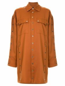 Rokh snap button overshirt - ORANGE
