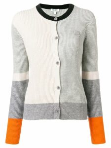 Kenzo colour block cardigan - Grey