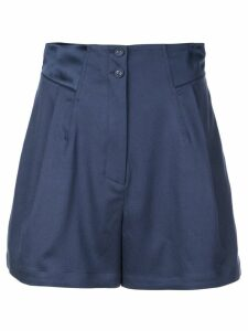 Fleur Du Mal pleated shorts - Blue