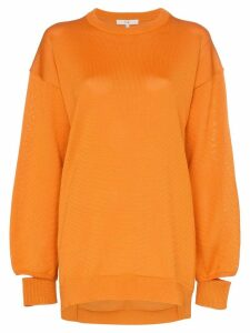 Tibi oversized knitted jumper - ORANGE