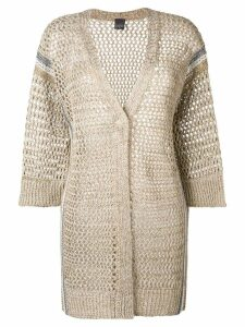 Lorena Antoniazzi loose knit cardigan - NEUTRALS