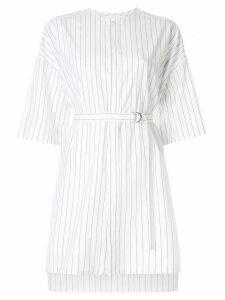 Ujoh pin striped shirt - White
